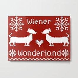 Wiener Wonderland Metal Print