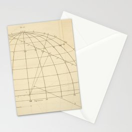 Jérôme Lalande's Astronomie (1771) - Geometric Calculations regarding Planetary Bodies 6 Stationery Cards