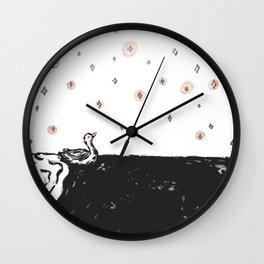 Starry Swim Wall Clock