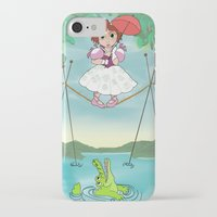 haunted mansion iPhone & iPod Cases featuring Baby Haunted Mansion Tightrope Ballerina by Amanda K. Hootman