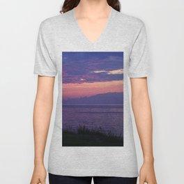 Purple Evening Clouds at Sea Unisex V-Neck
