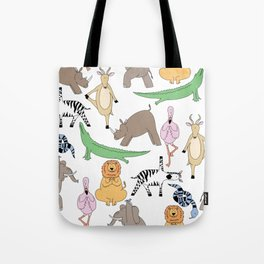 safari animal yoga Tote Bag