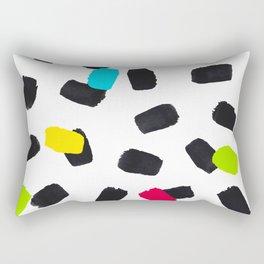 Brushstrokes in Color Rectangular Pillow