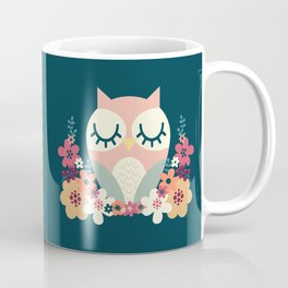 Floral Owl / Cute Animal Coffee Mug