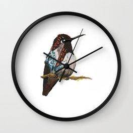 Bee Hummingbird Wall Clock