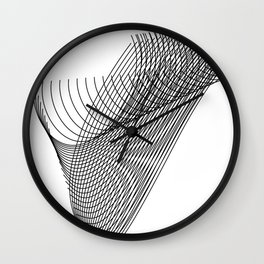 """""""Script Collection"""" - Minimal Letter V Print Wall Clock"""