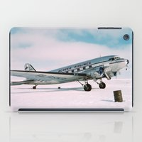 aviation iPad Cases featuring Vintage aviation photograph Alaska Airlines airplane air plane classic pilot flight travel photo by iGallery