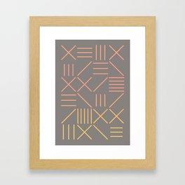 Geometric Shapes 12 Gradient Framed Art Print