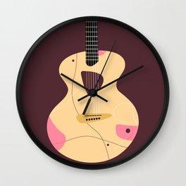 Acoustic guitar illustration Wall Clock