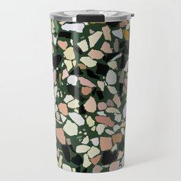 Pink and Green Terrazzo Travel Mug