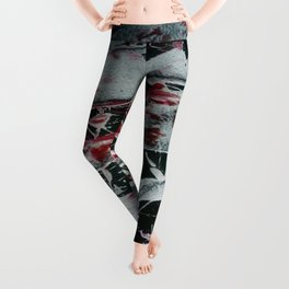 Black Pearl Abstract Ship At Night   Black and White Abstract   Corbin Henry Leggings