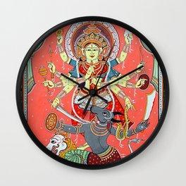 Hindu Durga 5 Wall Clock