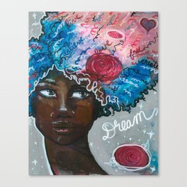Dream Up Girl Canvas Print
