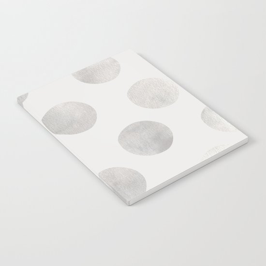 Silver Polka Dots Notebook