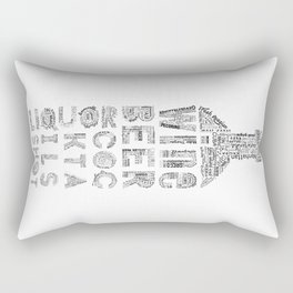 Bottle Drinks Tag Cloud Rectangular Pillow