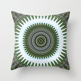 Mirror Lab Mandalas 3 Throw Pillow