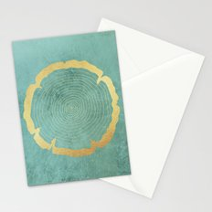 Gold Foil Tree Ring Stationery Cards