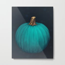 Teal Pumpkin Metal Print