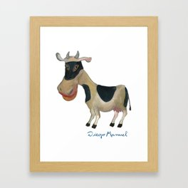masked cow Framed Art Print