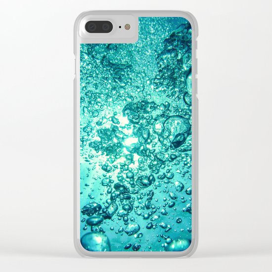 Thirsty Sprite Bubble Clear iPhone Case
