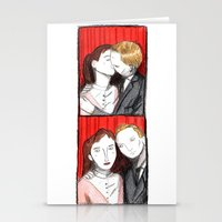 50s Stationery Cards featuring Romantic 50s Photobooth by Feronia Parker Thomas