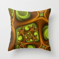 Fractal Growing Throw Pillow