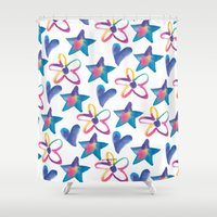 girly Shower Curtains featuring Girly by mariorigami