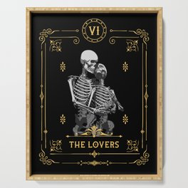 The Lovers VI Tarot Card Serving Tray