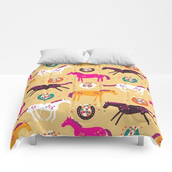 Lucky Horses Comforters