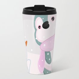 Baby Penguin and Snowman Travel Mug
