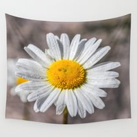 daisy Wall Tapestries featuring Daisy by Mark W