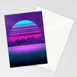 Future Sunset Vaporwave Aesthetic Stationery Cards
