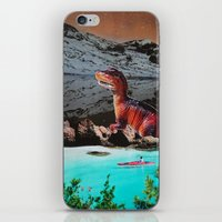dinosaur iPhone & iPod Skins featuring Dinosaur by John Turck