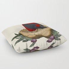 Bird on a Log Floor Pillow