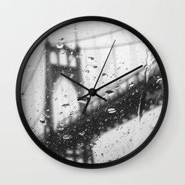 Rainy Bridge Wall Clock
