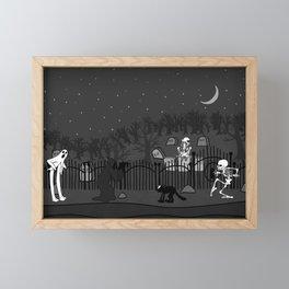 Cemetery B&W Framed Mini Art Print