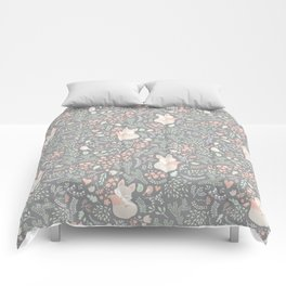 Sleeping Fox - grey Comforters