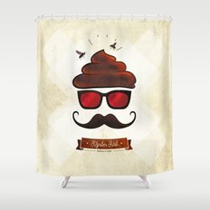 Hipster Hat Shower Curtain
