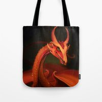 smaug Tote Bags featuring Smaug by Julia Lundgren