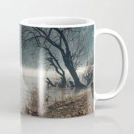 Morning fog, river and sunrise Coffee Mug