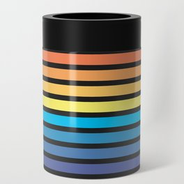 Stripe Sunset Can Cooler