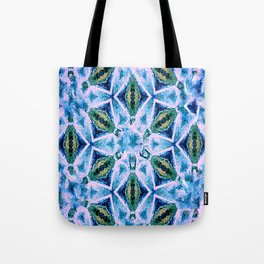 Geometric pattern in purple and blue Tote Bag