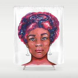 Stellar thoughts Shower Curtain
