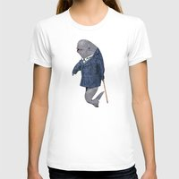 suits T-shirts featuring Animals in Suits - Porpoise by Katadd