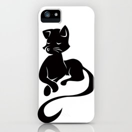 Silhouette Sits iPhone Case