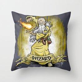 Gauntlet: Wizard portrait Throw Pillow