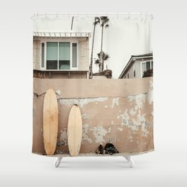 San Diego Surfing Shower Curtain