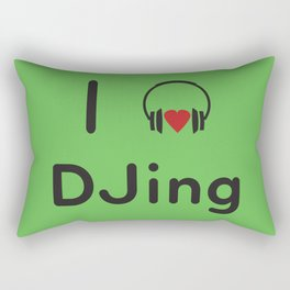I heart DJing Rectangular Pillow