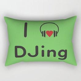 I heart DJing Rectangular Pillow