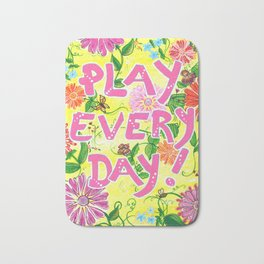 Play Every Day! Flower Painting Bath Mat